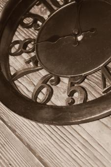 Free Stock Photo of Clock face - Sepia