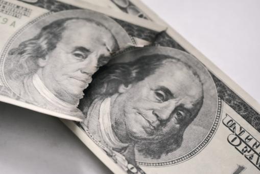 Free Stock Photo of US dollars and Benjamin Franklin's face close-up