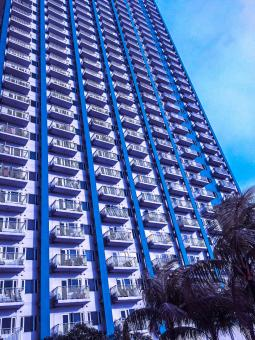 Free Stock Photo of Blue High Rise Building