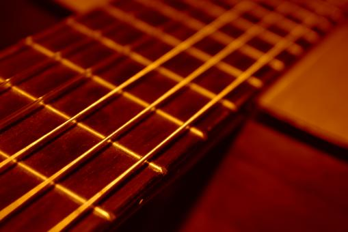 Free Stock Photo of Aquistic Guitar Closeup