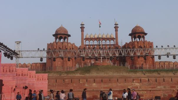 Free Stock Photo of Red fort in Delhi in India