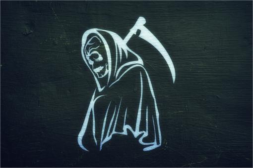 Free Stock Photo of Grim Reaper - On Dark Background