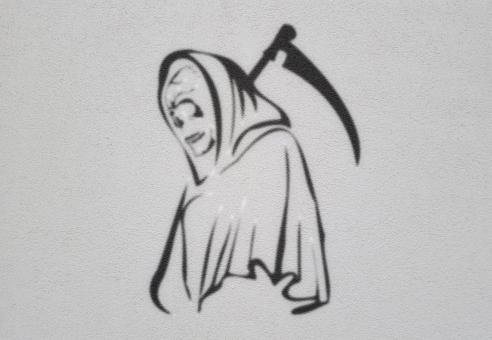 Free Stock Photo of Grim Reaper - On Light Background