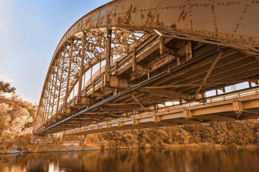 Free Stock Photo of Rusted Arch Bridge