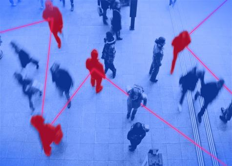 Free Stock Photo of People - Commuters - Contagion - Transmission - Network