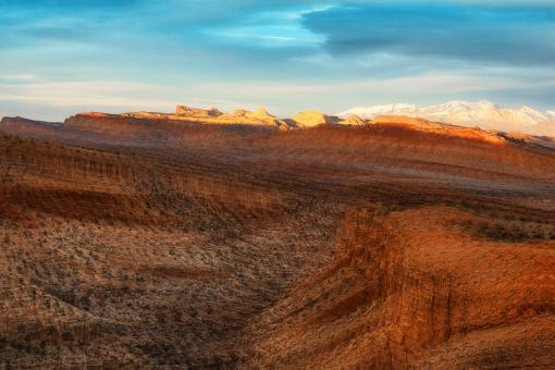 Free Stock Photo of Fleeting Capitol Reef Sunset