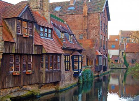 Free Stock Photo of Bruges Canal