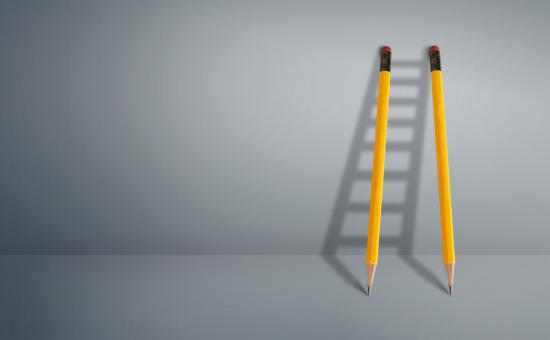 Free Stock Photo of Good Copywriting Concept - Pencils Against Wall Forming Ladder