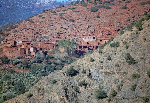 Free Stock Photo of Village In The Atlas Mountains