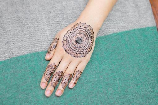 Free Stock Photo of Henna Design Tattoo