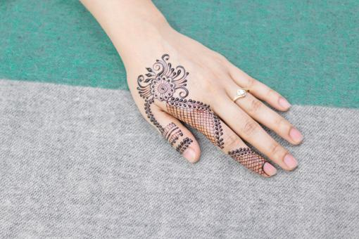 Free Stock Photo of Henna Hand Design