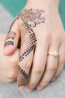 Free Stock Photo of Beautiful Henna Design