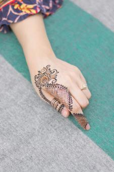 Free Stock Photo of Henna Tattoo Design