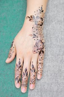 Free Stock Photo of Henna Design Tattoo Art