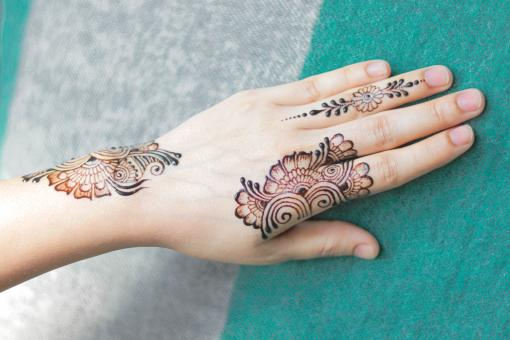 Free Stock Photo of Henna Tattoo on Woman Hand