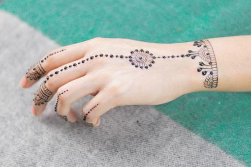 Free Stock Photo of Henna Design on Female Hand