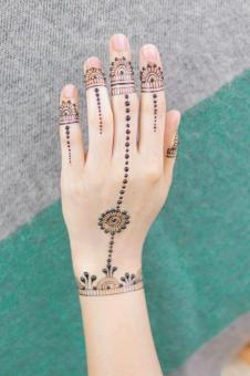 Free Stock Photo of Henna Tattoo Design - Female Hand