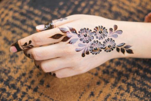 Free Stock Photo of Female Henna Tattoo Design