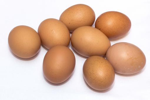 Free Stock Photo of Brown Eggs on White Surface
