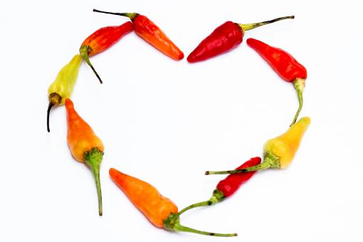 Free Stock Photo of Chili Peppers Forming a Heart