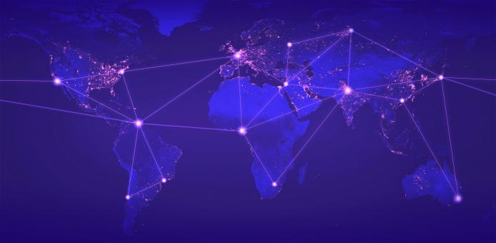 Free Stock Photo of Global Networks - Globalization - Digital Networks