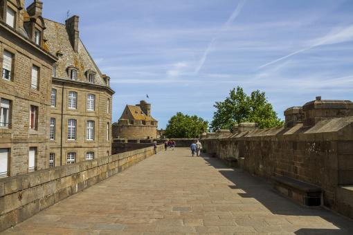 Free Stock Photo of Saint Malo Fortress Walls - France