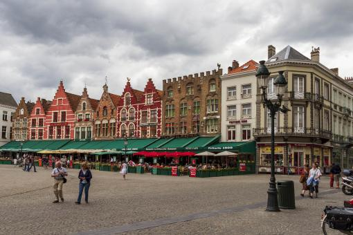Free Stock Photo of City market in Bruges Belgium