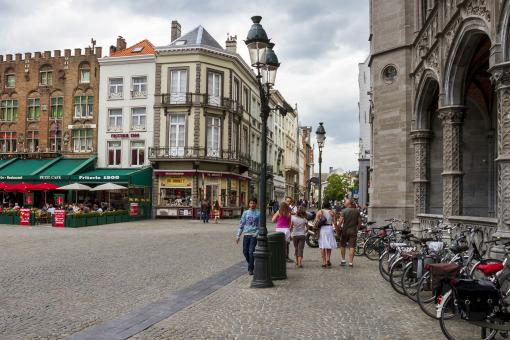 Free Stock Photo of City Corner in Buges, Belgium