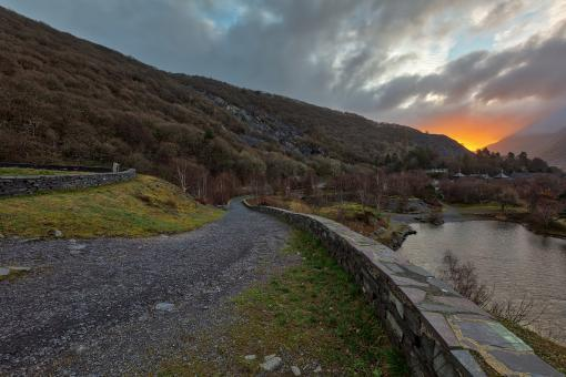 Free Stock Photo of Dinorwic Sunrise Trail