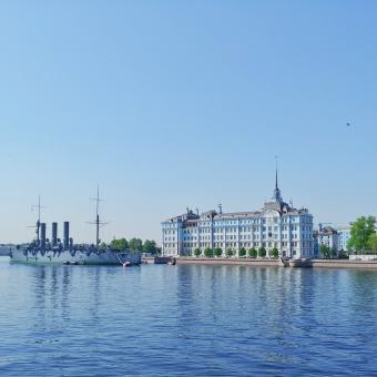 Free Stock Photo of Blue Sky over Saint-Petersburg