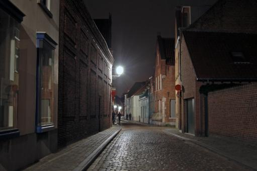 Free Stock Photo of Bruges at Night