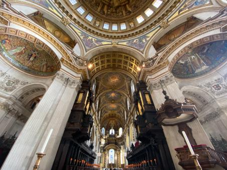 Free Stock Photo of St Pauls Cathedral Interior
