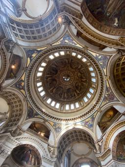 Free Stock Photo of St Paul's Cathedral Ceilings, London