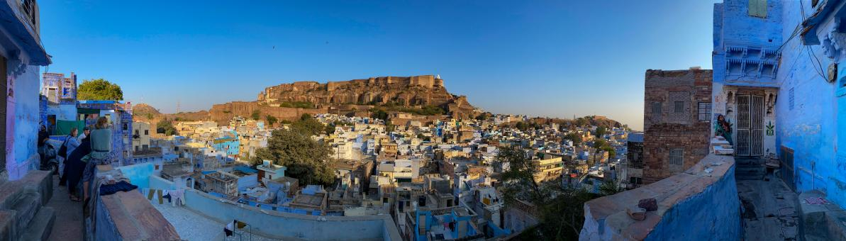 Free Stock Photo of Beautiful blue city of Rajasthan