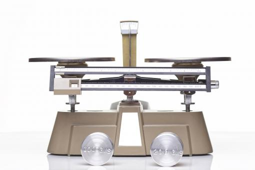 Free Stock Photo of Triple Beam Balance and Weights