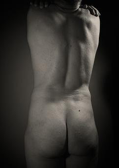 Free Stock Photo of Male Backside - Monochrome