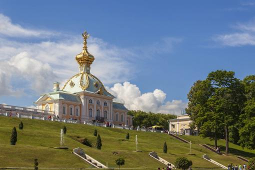 Free Stock Photo of Peterhof Palace and Gardens