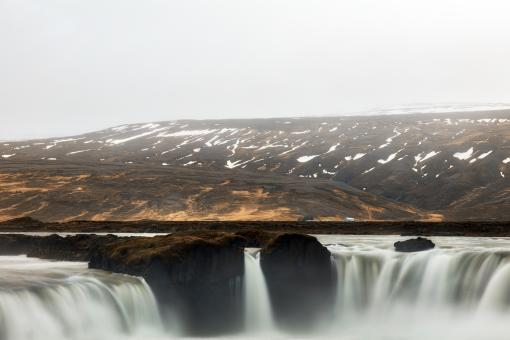 Free Stock Photo of Triple Layers of Godafoss
