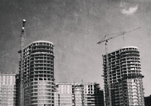 Free Stock Photo of Building Construction - Vintage Look
