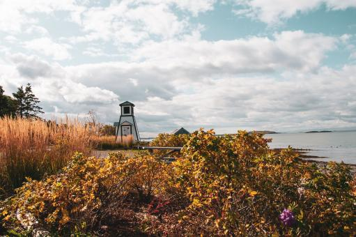 Free Stock Photo of Lighthouse in Autumn