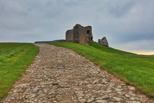 Free Stock Photo of Duffus Castle Path