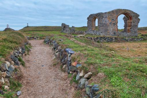 Free Stock Photo of St Dwynwen's Church Ruins