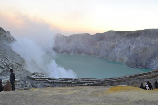Free Stock Photo of Volcanic Activity at Kawah Ljen