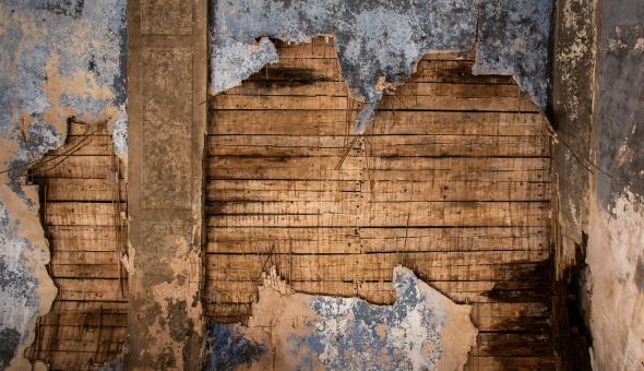 Free Stock Photo of Damaged Wooden Ceilings