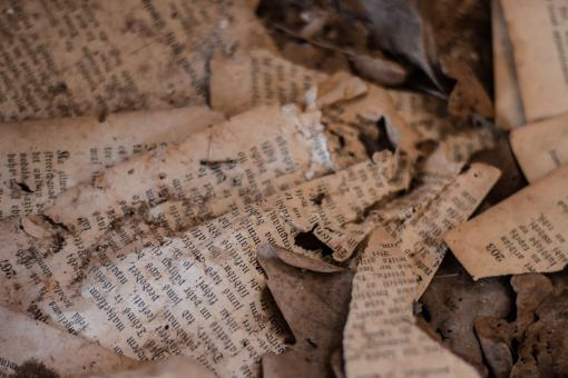 Free Stock Photo of Old paper pages