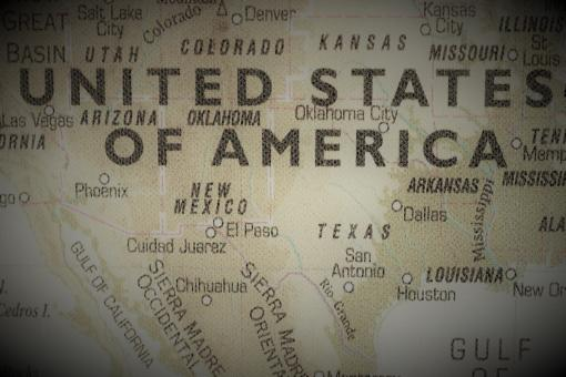 Free Stock Photo of Old map of the United Staes of America