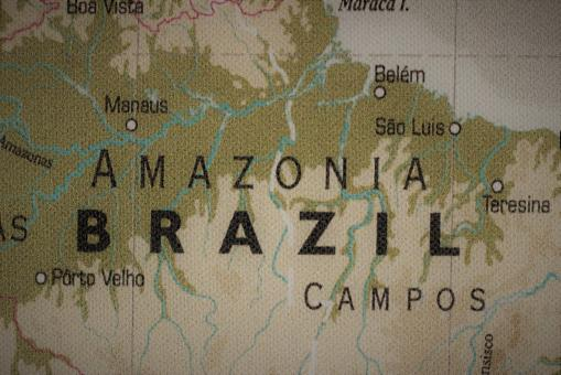 Free Stock Photo of Old map of Brazil and Amazonia