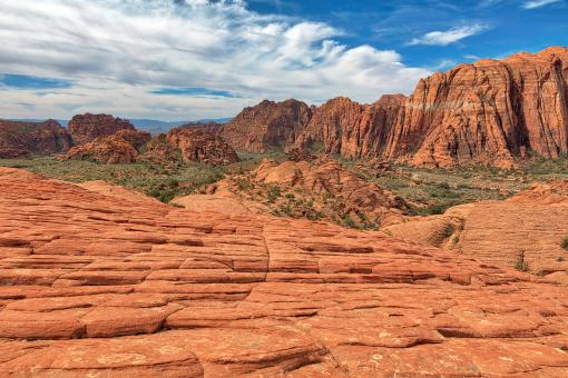 Free Stock Photo of Baked Snow Canyon