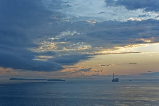 Free Stock Photo of FPSO with Dramatic Sky