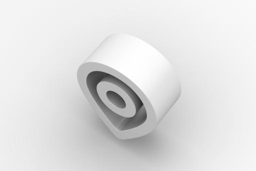 Free Stock Photo of White Location Icon - 3d Render